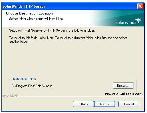 Solarwinds TFTP server installation location