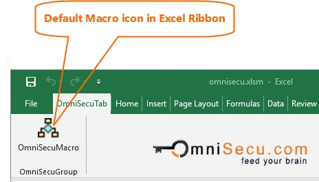 Default Macro Button Icon in Excel Ribbon