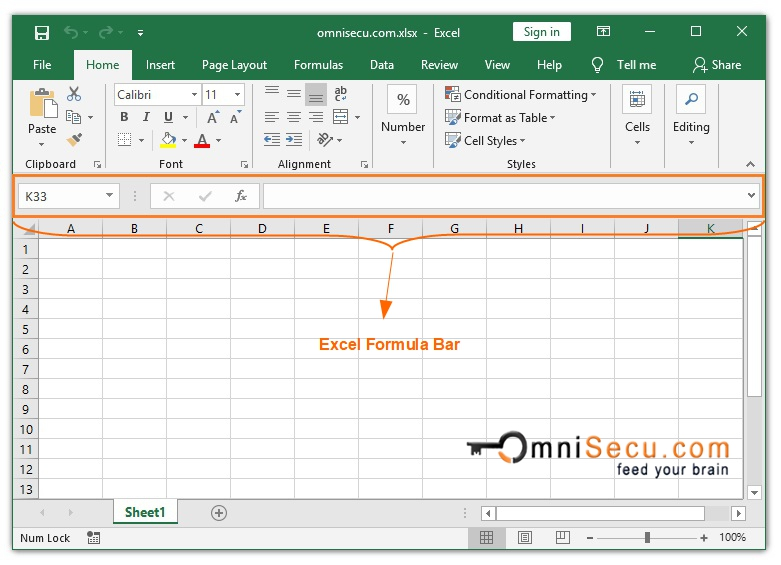How to hide or show Excel Formula bar