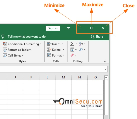 How to use Excel window controls to Maximize, Minimize and ...