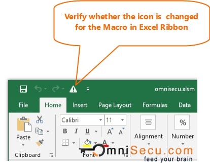 Macro button icon in Quick Access Toolbar changed