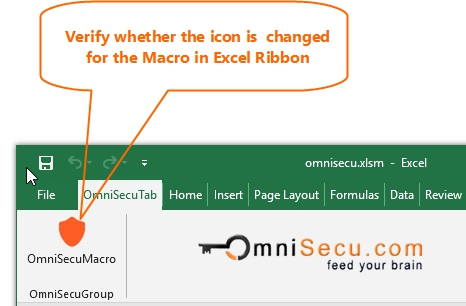 Macro button icon changed in Excel Ribbon