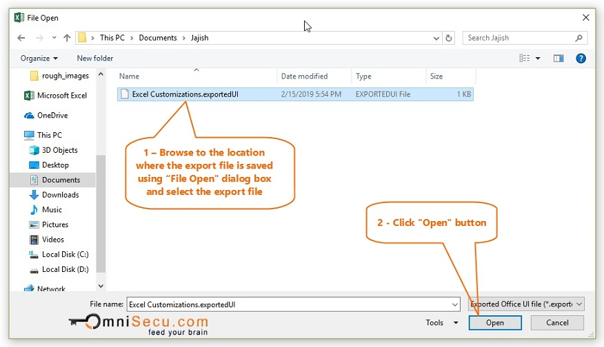 How to Import/Export Excel Ribbon Customizations