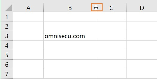 Excel change column width mouse pointer