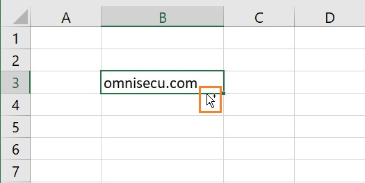 Excel copy cells mouse pointer