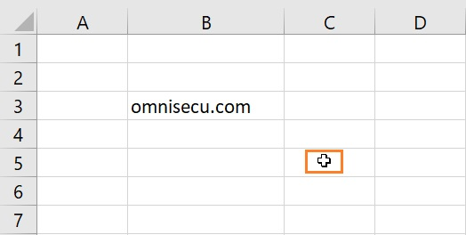 Excel General Select mouse pointer shape