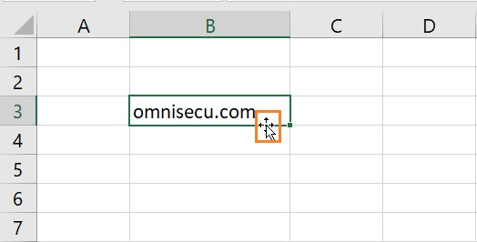 Excel move cells mouse pointer