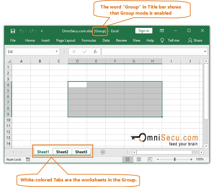 How to select Ranges from different worksheets using Excel