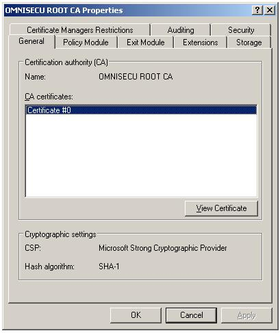 Import Root Certificate to Trusted Root CA store - CA Properties