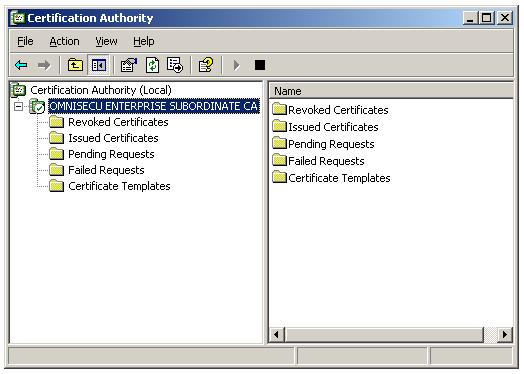 Install CA certificate on Enterprise Subordinate CA - Installation completed