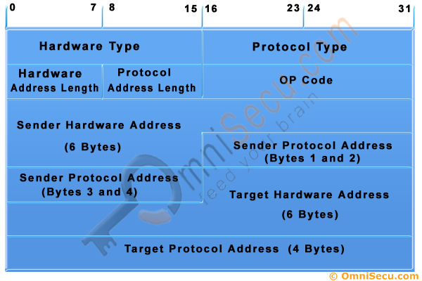 Address Resolution Protocol ARP Message Format