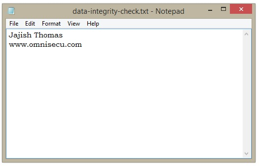 Data Integrity Check 1