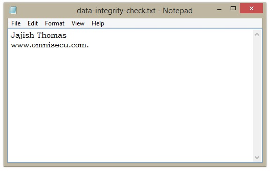 Data Integrity Check 2