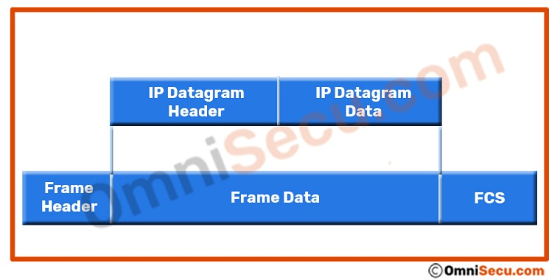 IP Datagram encapsulation within an Ethernet frame