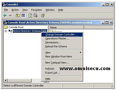 Active Directory Schema Change Domain Controller