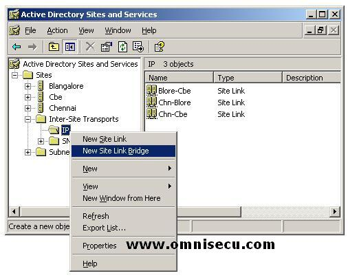 Active Directory Sites and Services IP context menu