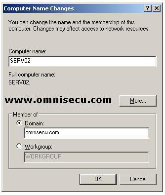 Add Computer to Active Directory Domain - Enter Domain Name