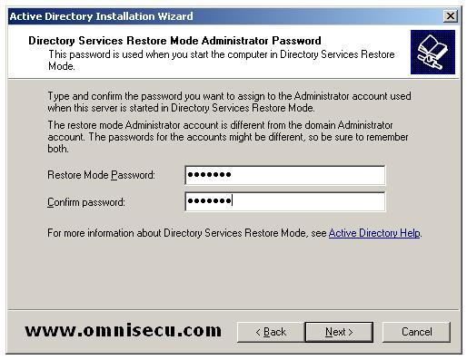 Dcpromo Directory Services Restore Mode Administrator Password