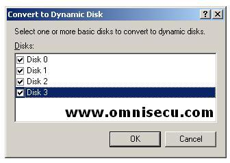 Convert to Dynamic Select Disks