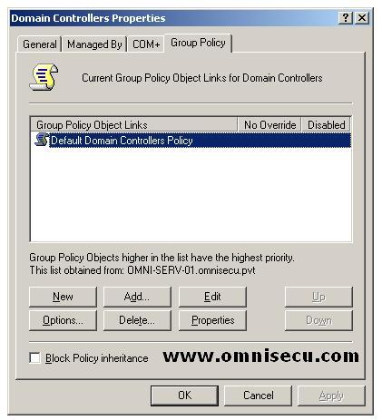Domain Controllers Organizational Unit Properties Group Policy Tab.JPG