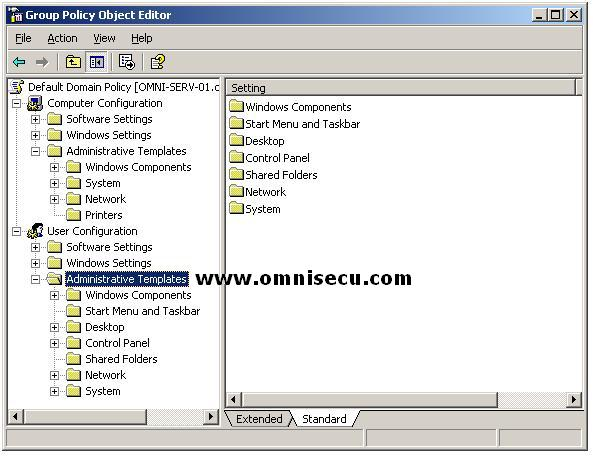 Group Policy Administrative Templates Settings