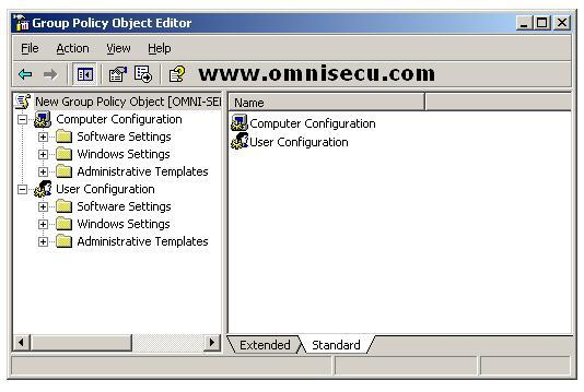 Group Policy Object Editor for Active Directory Site