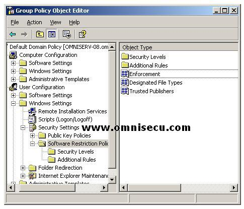 Group Policy Software Restriction Policies New Policy