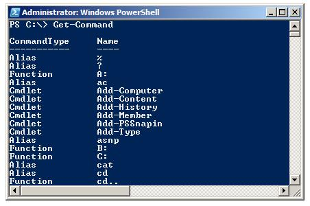 PowerShell Get-Command cmdle
